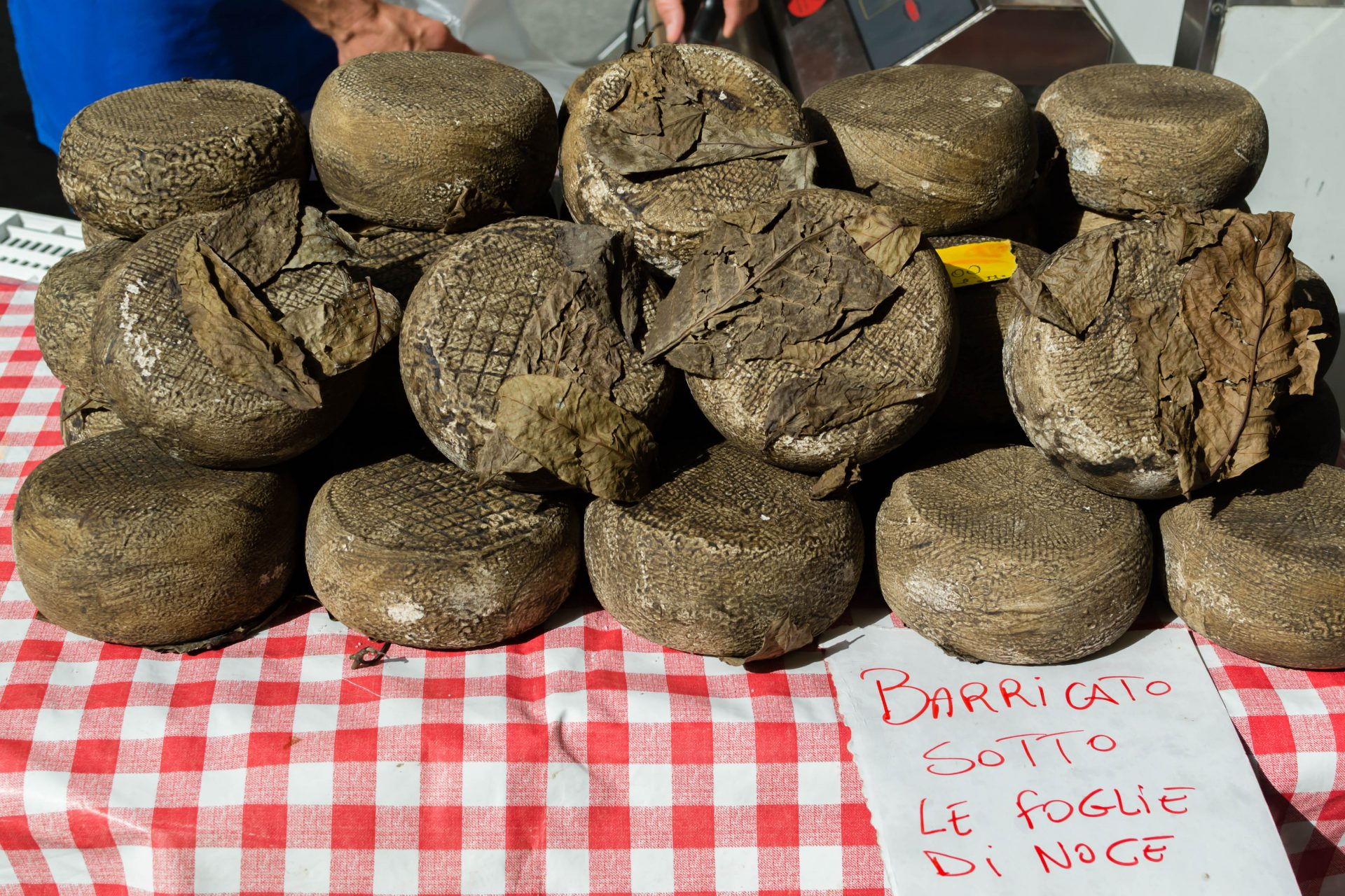 Cheeses in Cortona market