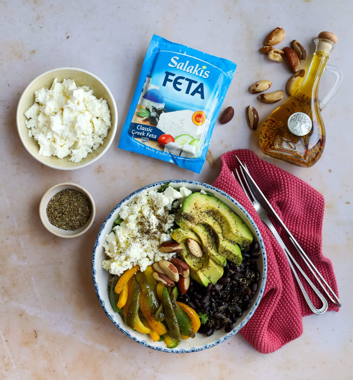 Healthy bowl con feta